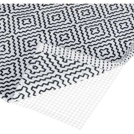 Relaxdays Non-Slip Underlay Mat for Runners & Carpet, Hallway, Living Room, Bathroom, WxD 100x120 cm, Cream