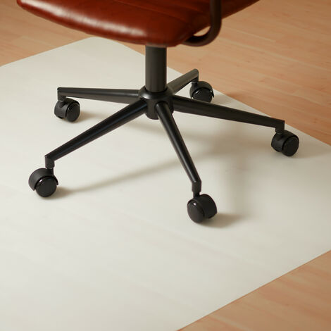 """main image of """"Relaxdays Office Chair Mat 90 x 90 cm, Scratch-Proof Protective PE Floor Mat, Insulating, Anti Slip, White"""""""