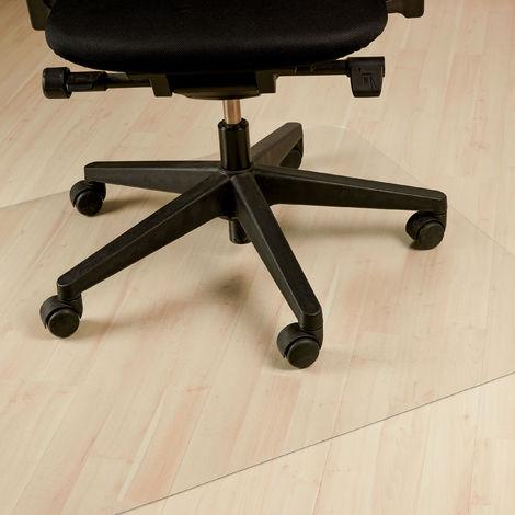 Relaxdays Office Chair Mat, Underlay, Floor Protector, Parquet, Carpet, Non-Slip, 120 x 150 cm, Clear