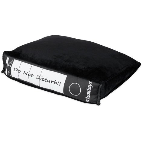 Relaxdays Office Cushion, Ring Binder Look, Plush Pillow, Work Power Nap, Gift Idea for Work Colleagues, HWD 7 x 31 x 28 cm