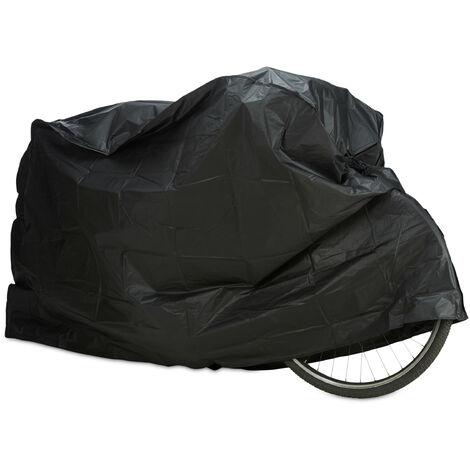 "main image of ""Relaxdays Polyethylene Bike Cover, Tear-Resistant, Sun Protection, 200 x 115 cm, Black"""