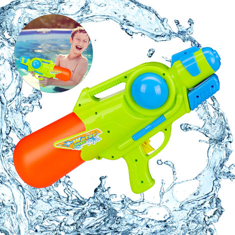 Relaxdays Pump Action Water Gun,Holds 1 Litre of Water, 5 m Range , Pumping Action, For Kids & Adults, Squirt Gun, Multicoloured