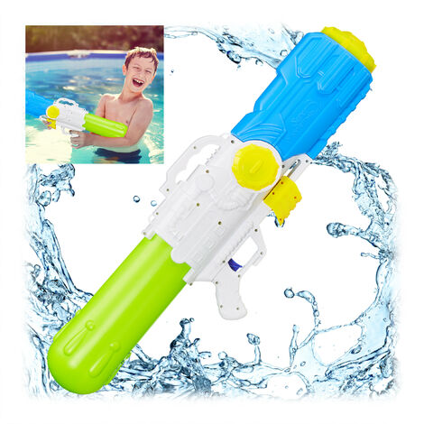 Relaxdays Pump Action Water Gun,Holds 3.2 Litre of Water, 10 m Range, Pump Action, Kids & Adults, Squirt Gun, Multicolor
