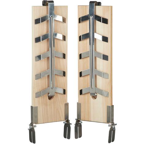 Relaxdays Set of 2 Set Salmon Board Smoker, Natural Cedar Wood Board, Adjustable Stainless Steel Mount