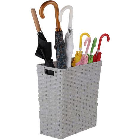 Relaxdays Storage Basket, Niche Waste Bin with Handles, 30 L, Plastic, HWD 42 x 40 x 20 cm, Grey
