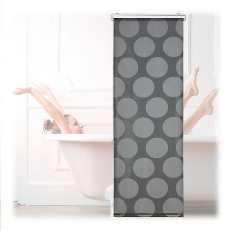 Relaxdays Store de baignoire, 60x240 cm, rideau de douche hydrofuge, montage au plafond & à la fenêtre, pare-bain, gris