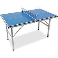 Relaxdays Table Tennis Table Midi 125 x 75 x 75 cm, Ping Pong Table for Indoors and Outdoors with Folding Legs and Net, Blue