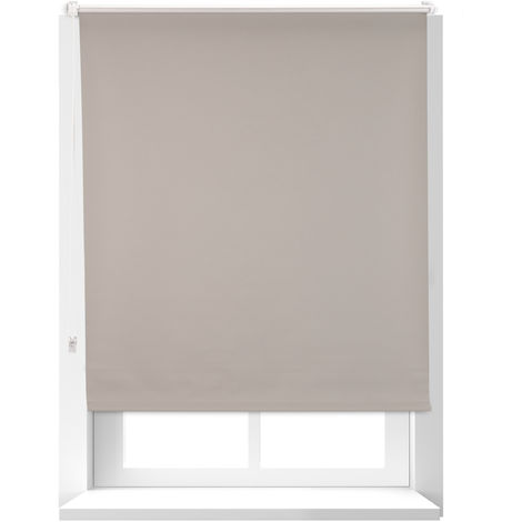 Relaxdays Thermal Blind, Opaque, Darkening Blinds with Thermal Lining, Chain Hoist, 160 x 100 cm, Brown