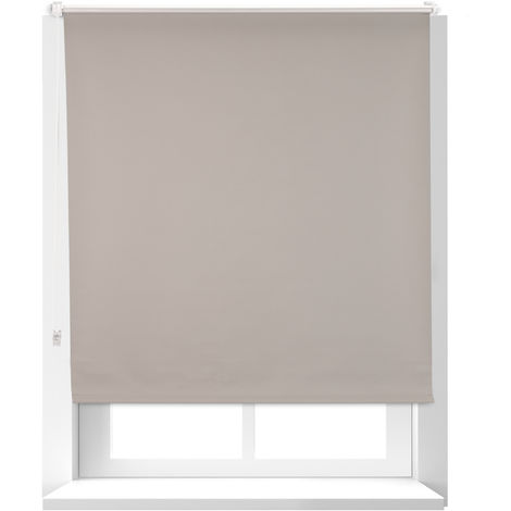 Relaxdays Thermal Blind, Opaque, Darkening Blinds with Thermal Lining, Chain Hoist, 160 x 110 cm, Brown