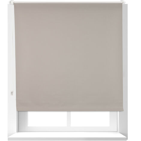 Relaxdays Thermal Blind, Opaque, Darkening Blinds with Thermal Lining, Chain Hoist, 160 x 120 cm, Brown