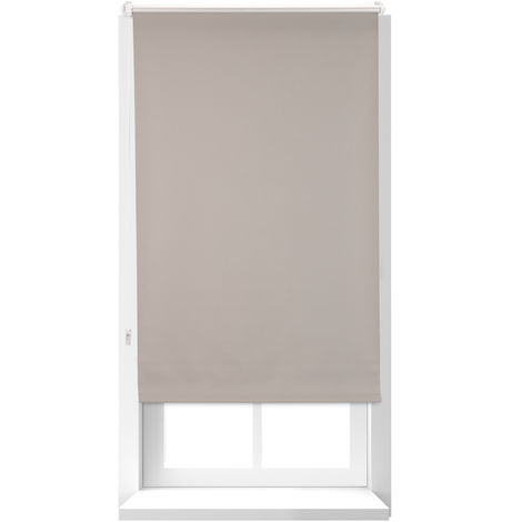 Relaxdays Thermal Blind, Opaque, Darkening Blinds with Thermal Lining, Chain Hoist, 160 x 60 cm, Brown