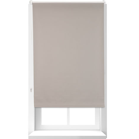Relaxdays Thermal Blind, Opaque, Darkening Blinds with Thermal Lining, Chain Hoist, 160 x 70 cm, Brown