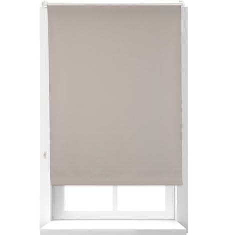Relaxdays Thermal Blind, Opaque, Darkening Blinds with Thermal Lining, Chain Hoist, 160 x 80 cm, Brown