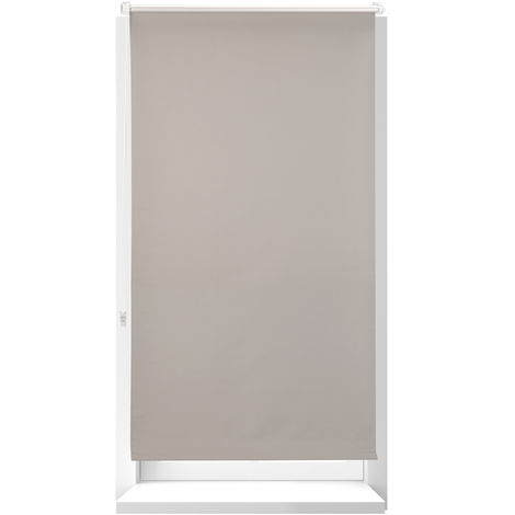 Relaxdays Thermal Blind, Opaque, Darkening Blinds with Thermal Lining, Chain Hoist, 210 x 90 cm, Brown