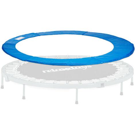 "main image of ""Relaxdays Trampoline Edge Cover, Shock Cover, Trampoline Accessory, 30 cm Wide, PVC, 366 cm Diameter, Blue"""