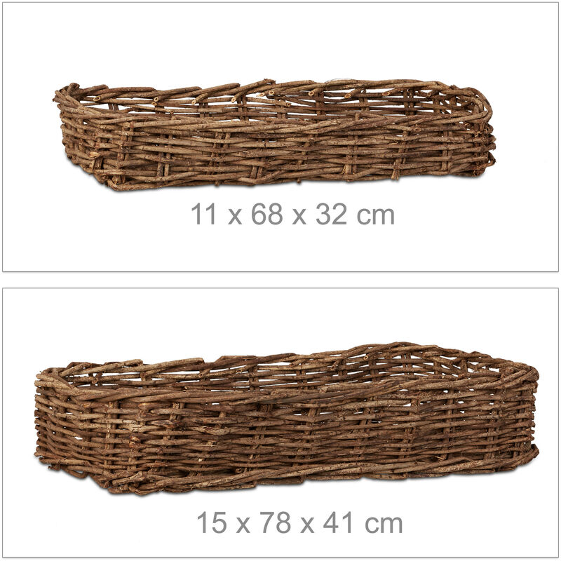 Oval Split Willow Lined Bread Basket with Loop Handles