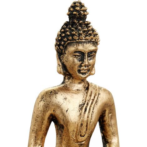 """main image of """"Relaxdays Zen Garden Buddha Statue, Tranquillity Set, Pebbles, Sand, Joss Stick, Tea Light, Feng Shui Decoration, Black"""""""