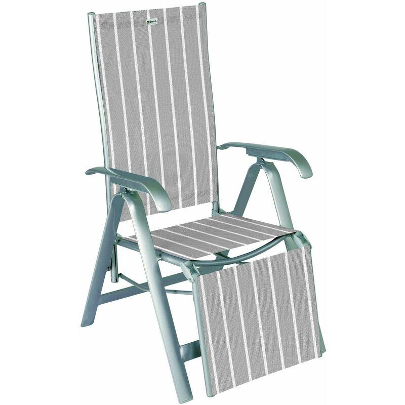 Relaxsessel Acatop platin/denver mit ausklappbarem Fußteil - Acamp