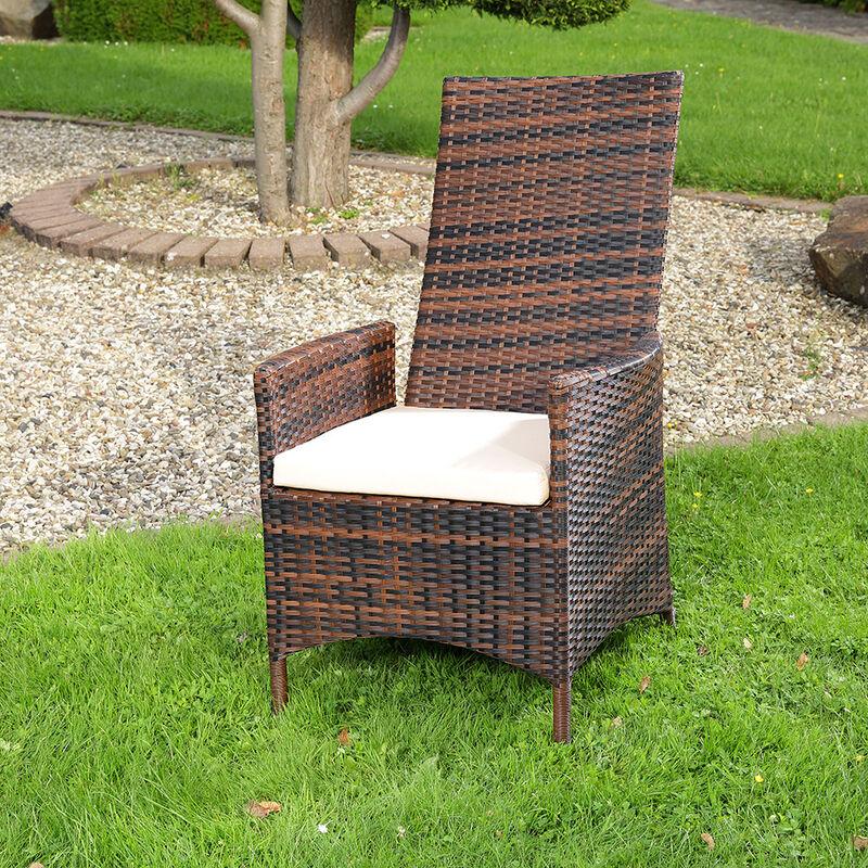 Relaxsessel Polyrattan Garten Verstellbar Gartenmobel Balkon Sitzmobel 2er Set