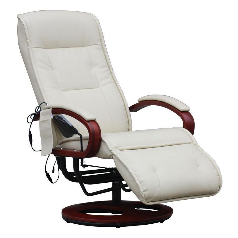 HHG - Relaxsessel Terni II mit Massage ~ Kunstleder, creme