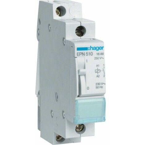 Relé de Hager, paso-por-paso 16A 230V 1NA DIN 1 módulo EPN510