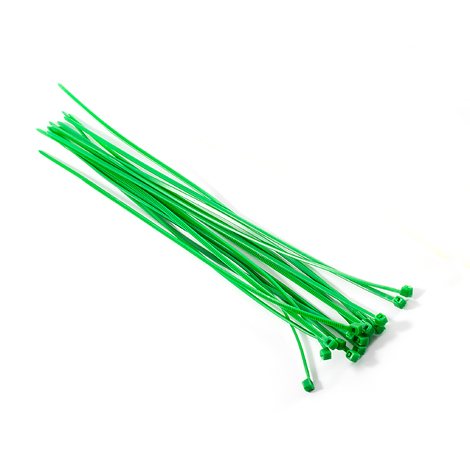 Releasable cable ties 7,6 x 250mm Green 100pcs
