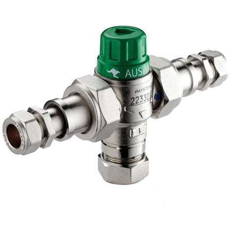 Reliance - Ausimix 15mm Compact 2 in 1 Telescopic Thermostatic Mixing Valve