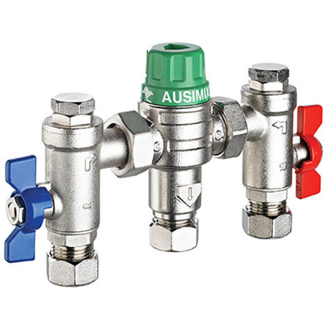 Reliance - Ausimix 15mm Compact 4 in 1 Thermostatic Mixing Valve HEAT110780