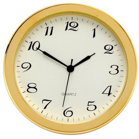 Reloj de inserción de 50 mm Numeración Árabe Woodcraft