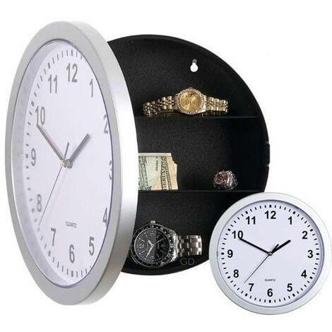 "main image of ""Reloj de pared con caja fuerte oculta"""
