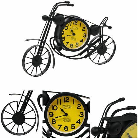 Reloj de pared con forma de motocicleta vintage