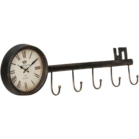 Reloj de pared diseño llave con pantalla analógica - 88 x 7 x 26 cm - de varios colores cristal