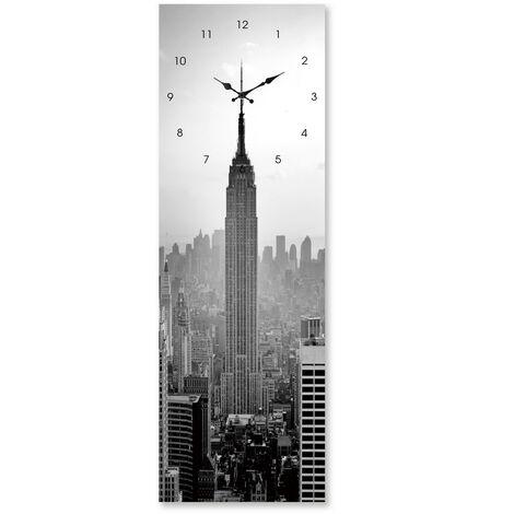 """main image of """"Reloj de pared moderno gris de cristal de 60x20 cm"""""""