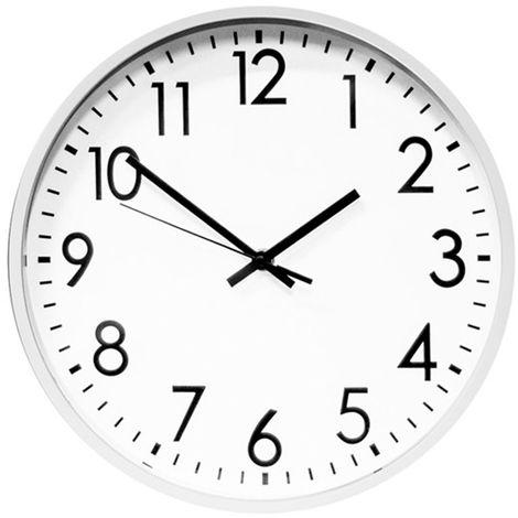 Reloj de pared redondo analógico de 26cm, silencioso
