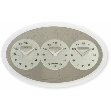 Reloj de pared Tre Ore nel Mondo (Tokyo - New York - Paris) | Incantesimo Design - 50071011429602