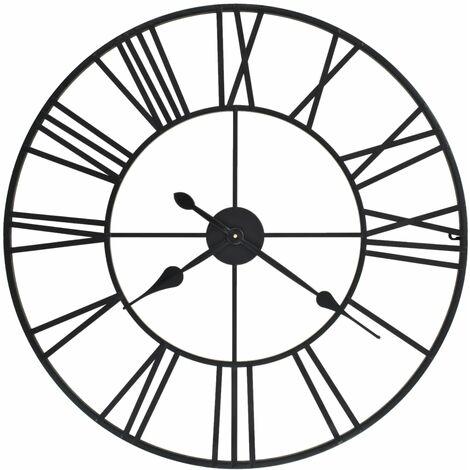 Reloj de pared vintage movimiento cuarzo metal 80 cm XXL