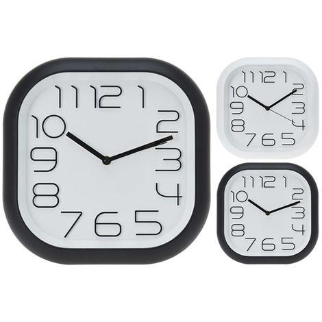 Reloj Pared 39x39cm. Bl/ng