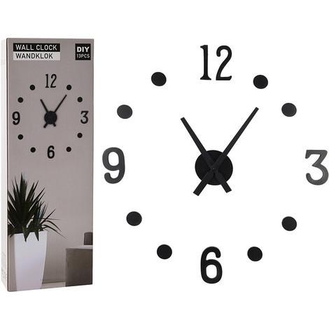 Reloj Pared Adhesivo Negro - NEOFERR..