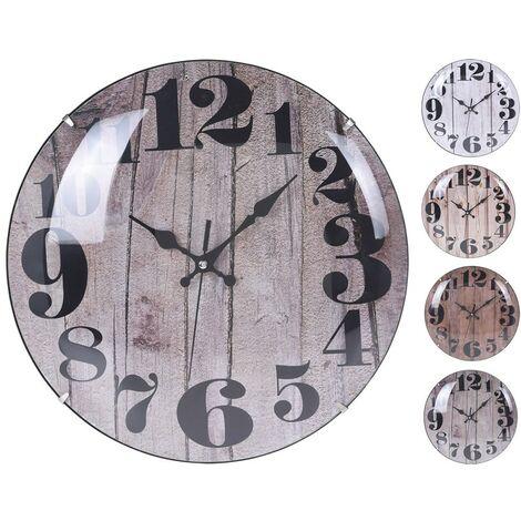 Reloj pared antiguo 30 cm surtido