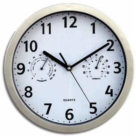 Reloj Pared Con Termometro-Higrometro 23 Cm - INALSA - 7121..