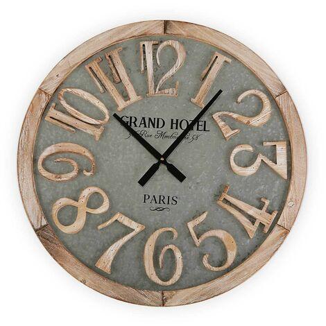 reloj pared madera 60 cm hotel 60x5x60