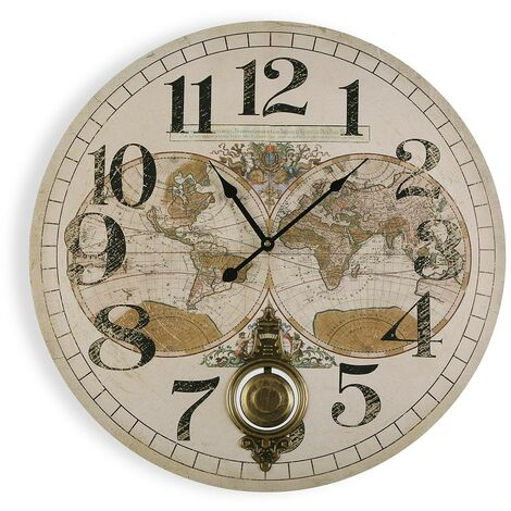 reloj pared mapamundi 58.2cm 4,3x58,2x58,2