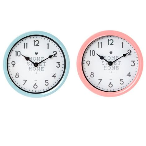 Reloj pared metal 20x4cm sweet surtido RE-133963