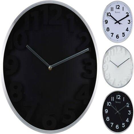 Reloj pared metal 37cm.surtido