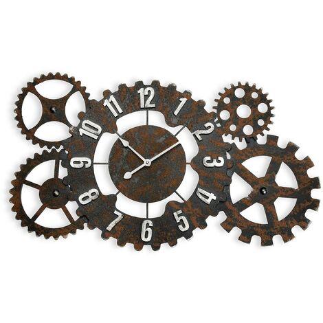 reloj pared metal 68 cm 36,5x68x4,5