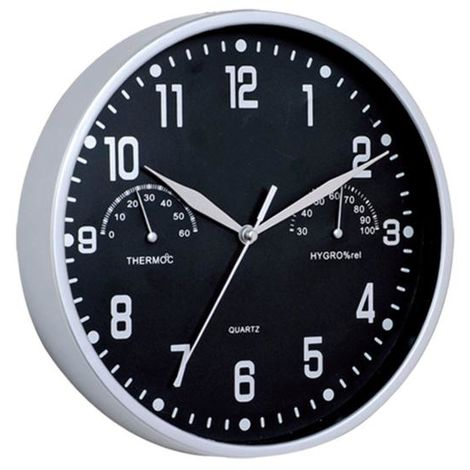 Reloj pared termómetro/higrómetro - talla