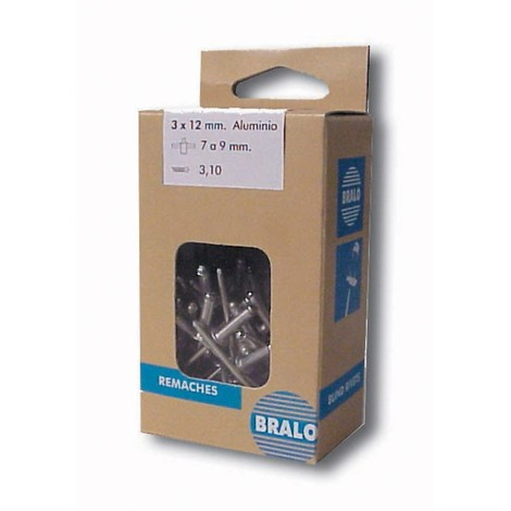 Remache Minicaja Standar 50uds - BRALO - S1010004008 - 4X8 MM