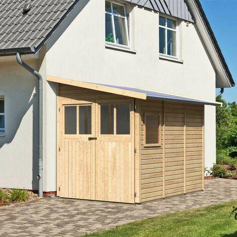 Remise adossée en bois certifié 3,28m² Juist 2 - Karibu