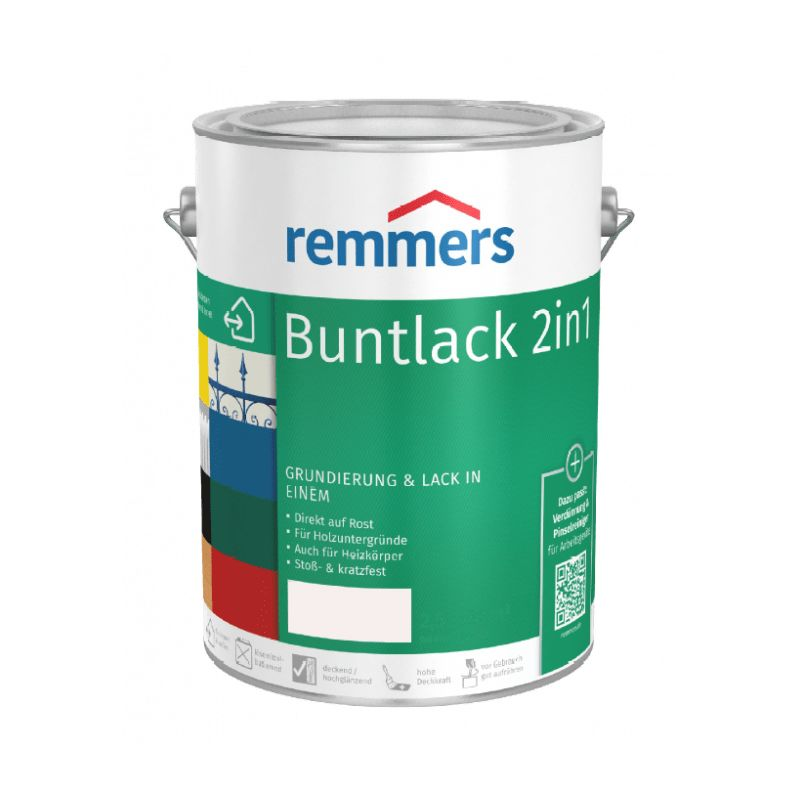 Buntlack 2 in 1 - laubgruen (RAL6002), 750 ml - Remmers