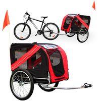 Remolque bicicleta perros Transportín Accesorios bici Mascotas Viaje Outdoor Animales Tiempo libre